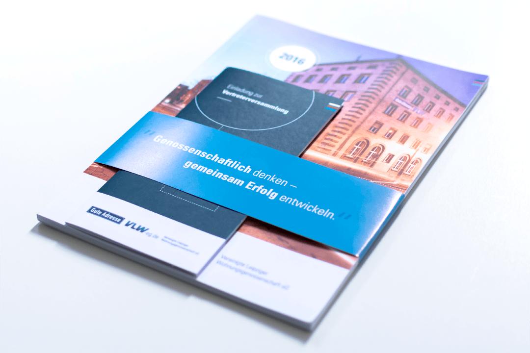 Der Geschäftsbericht im neuen Design inklusive Einladung zu Vertreterversammlung