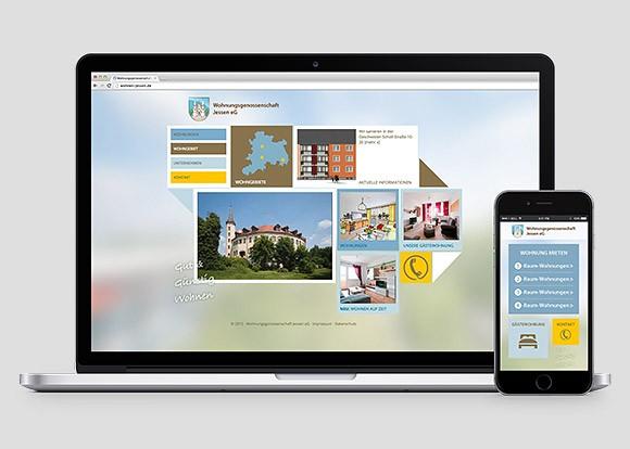 Homepage für eine kleine Wohnungsgenossenschaft im responsiven Design