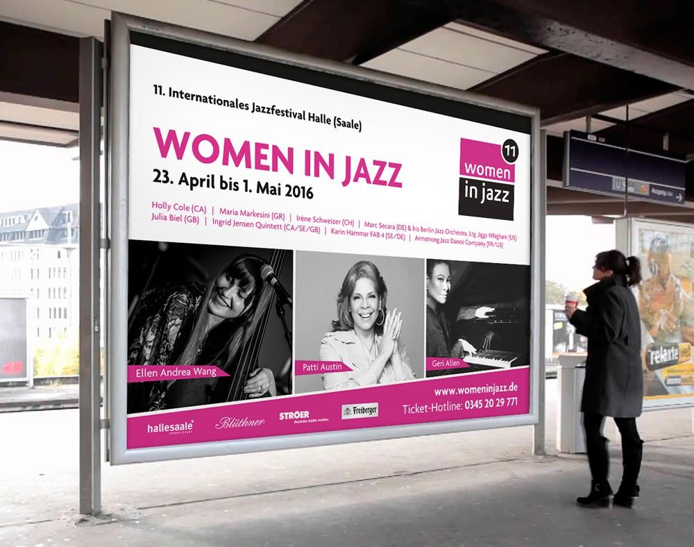Großformatwerbung Women in Jazz