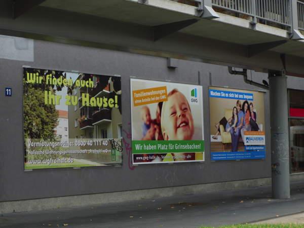 Großformatflächen zum Familienwohnen enders Marketing