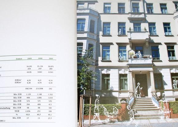 Geschäftsbericht mit Illustrationen für die GGG Chemnitz