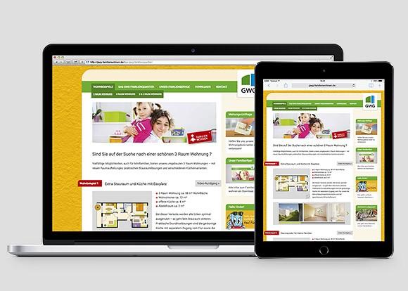 Idee und Umsetzung Microsite Familienwohnen enders Marketing