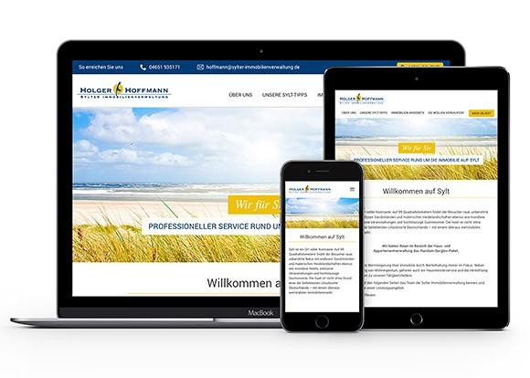 Homepage für Smartphone optimiert